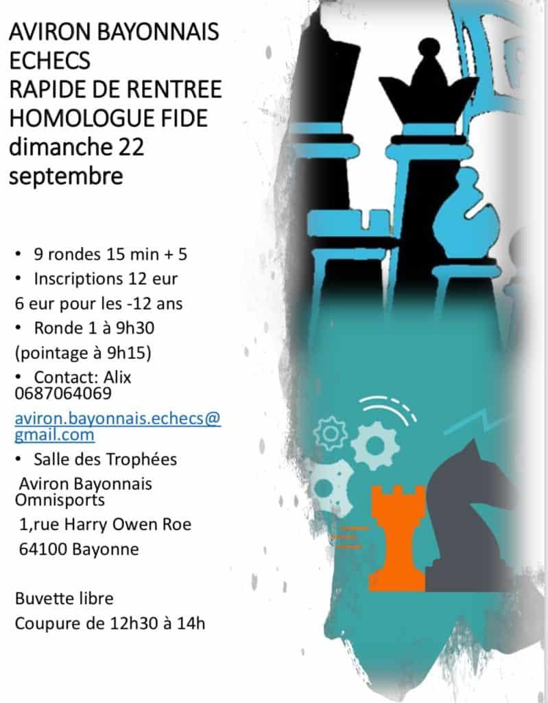 Rapide FIDE du 22/09/2019